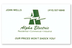 Alpha Electric Business Card