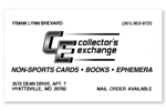 Collector's Exchange Business Card