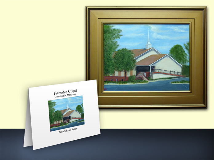 Fellowship Chapel Painting and Card