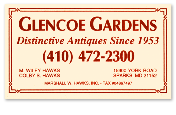 Glencoe Gardens Business Card