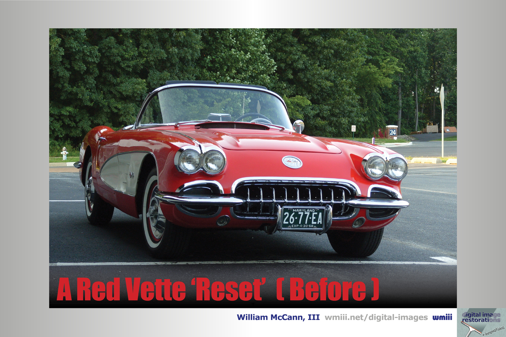 A Red Vette 'Reset' (Before)