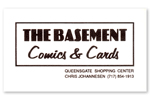 The Basement Comics & Cards Business Card