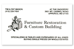 Furniture Restoration Business Card